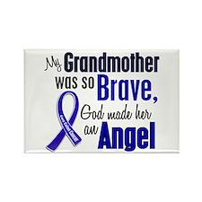 Angel 1 GRANDMOTHER Colon Cancer Rectangle Magnet