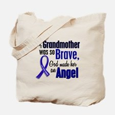 Angel 1 GRANDMOTHER Colon Cancer Tote Bag