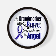 Angel 1 GRANDMOTHER Colon Cancer Wall Clock