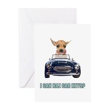 Chihuahua Driving Car Greeting Card