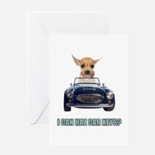 Chihuahua Driving Car Greeting Card