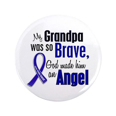 """Angel 1 GRANDPA Colon Cancer 3.5"""" Button"""