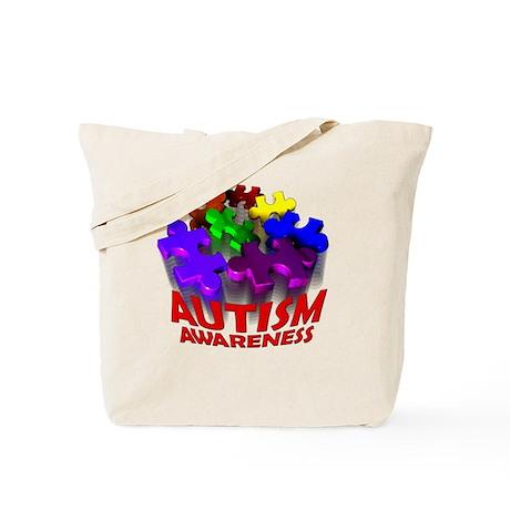 Autism Puzzle Jump Tote Bag