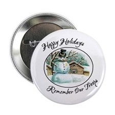 Military Snowman Troop Support Ribbon Button