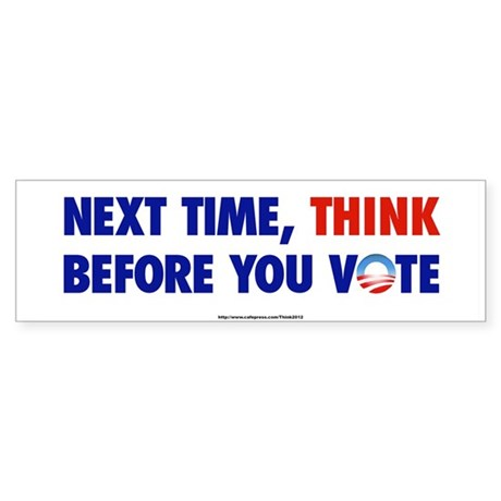 """Think 2012"" Bumper Sticker"