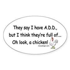 ADD full of Chicken Humor Decal