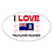 I Love Falkland Islands Oval Decal