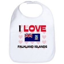 I Love Falkland Islands Bib