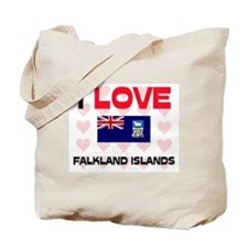 I Love Falkland Islands Tote Bag