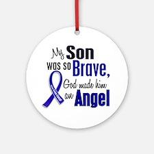 Angel 1 SON Colon Cancer Ornament (Round)
