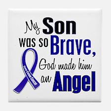 Angel 1 SON Colon Cancer Tile Coaster