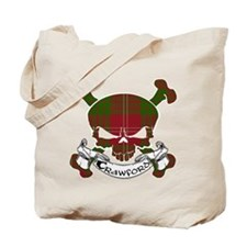 Crawford Tartan Skull Tote Bag
