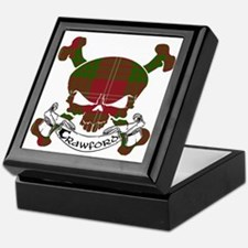 Crawford Tartan Skull Keepsake Box