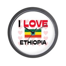 I Love Ethiopia Wall Clock