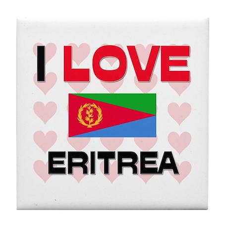 I Love Eritrea Tile Coaster