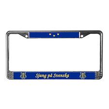 Sjung pa Svenska License Plate Frame