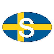 Sweden Flag Oval Sticker (10 pk)