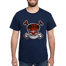 Cunningham Tartan Skull T-Shirt