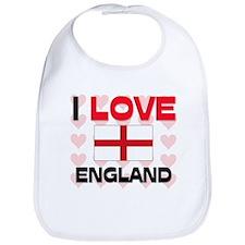 I Love England Bib