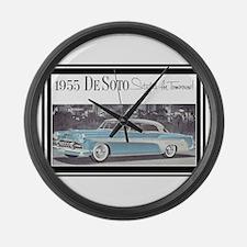 """""""1955 DeSoto Ad"""" Large Wall Clock"""