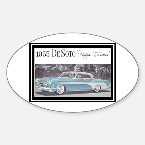 """""""1955 DeSoto Ad"""" Oval Decal"""