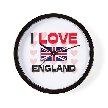 I Love England Wall Clock