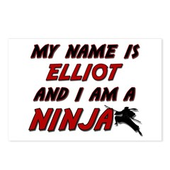 my name is elliot and i am a ninja Postcards (Pack