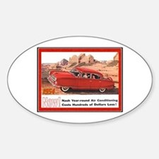 """""""1954 Nash Ad"""" Oval Decal"""