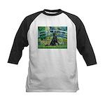 Flat Coated Retriever 2 Kids Baseball Jersey