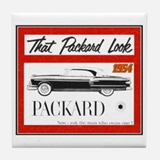 """1954 Packard Ad"" Tile Coaster"