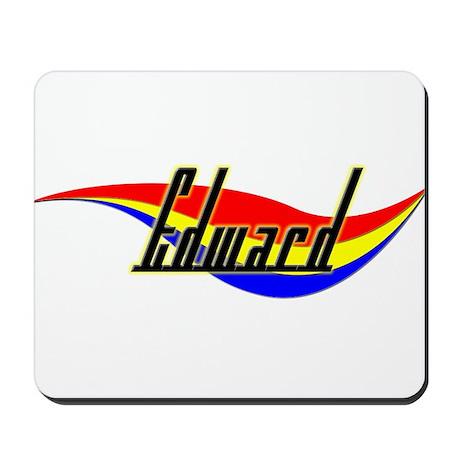 Edward's Power Swirl Name Mousepad