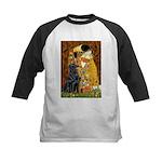 Kiss / Flat Coated Retriever Kids Baseball Jersey