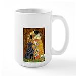 Kiss / Flat Coated Retriever Large Mug