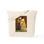 Kiss / Flat Coated Retriever Tote Bag