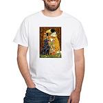 Kiss / Flat Coated Retriever White T-Shirt