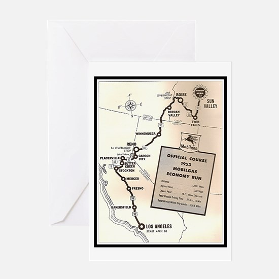 """""""Mobilgas Route"""" Greeting Card"""