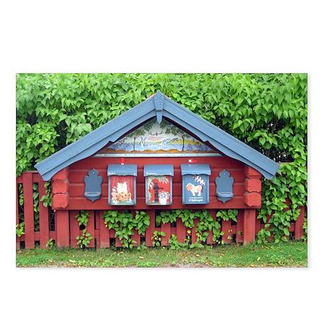 Sundborn Mailboxes Postcards (Package of 8)