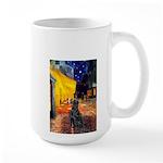 Cafe / Flat Coated Retriever Large Mug