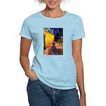 Cafe / Flat Coated Retriever Women's Light T-Shirt