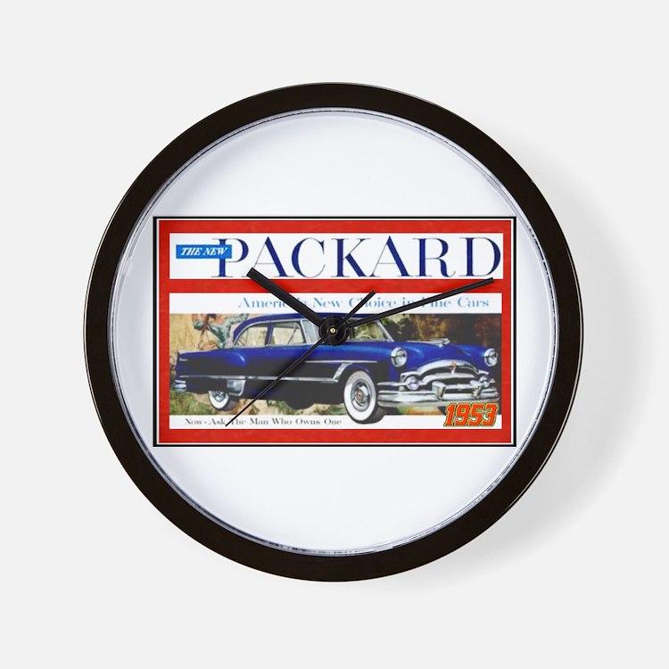 """1953 Packard Ad"" Wall Clock"