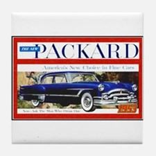"""1953 Packard Ad"" Tile Coaster"