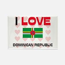 I Love Dominican Republic Rectangle Magnet