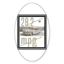"""""""1953 Henry J Ad"""" Oval Decal"""