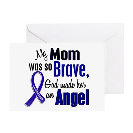 Angel 1 MOM Colon Cancer Greeting Cards (Pk of 20)