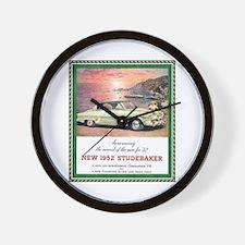 """1952 Studebaker Ad"" Wall Clock"