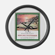 """1952 Studebaker Ad"" Large Wall Clock"