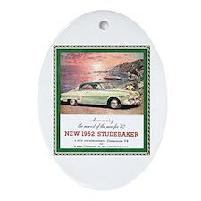 """1952 Studebaker Ad"" Oval Ornament"