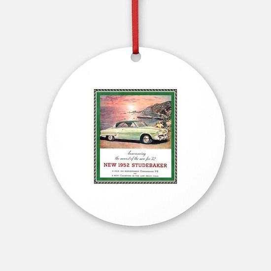 """1952 Studebaker Ad"" Ornament (Round)"