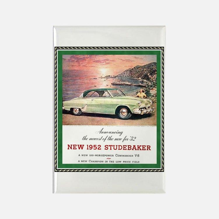 """""""1952 Studebaker Ad"""" Rectangle Magnet"""