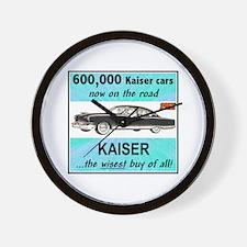 """""""1952 Kaiser Ad"""" Wall Clock"""